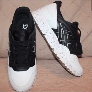 ASICS black and white with speck soles